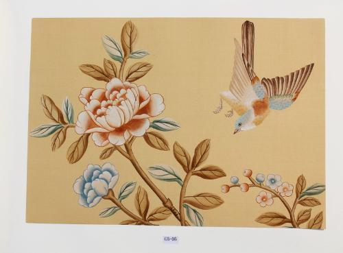 手绘金箔银箔壁纸是一种豪华奢侈的装饰,金属感很强有金碧辉煌的效果.