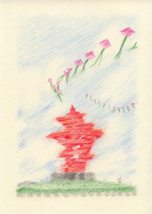 254张彩色铅笔画将岛城美景一一定格