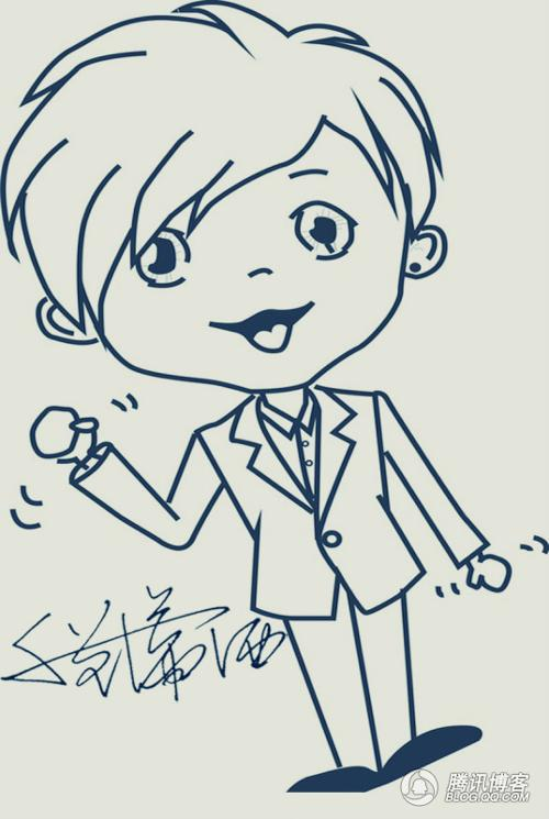 汉族卡通人物简笔画