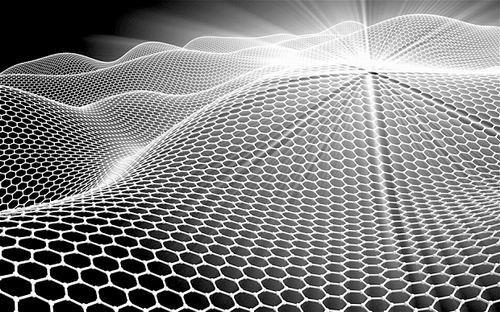 石墨烯是一种二维晶体,由碳原子按照六边形进行排布,相互连接,形成