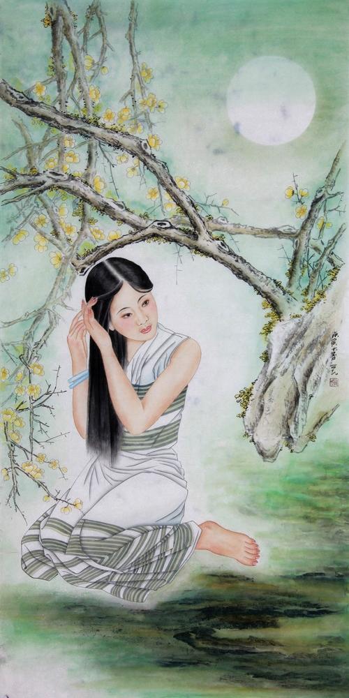 ...工笔人物画2003年参加《纪念红十字会100周年》大型画展作品...