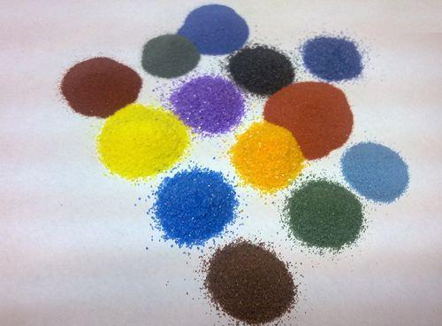彩砂画画老师的步骤