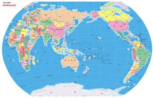 南极北极地图