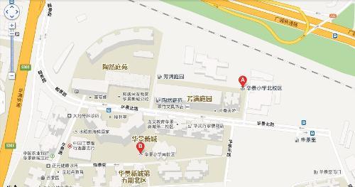 小学广州市手绘地图