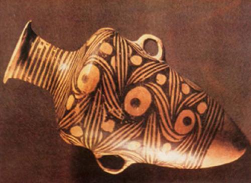 动物形花纹,是仰韶文化的最明显特征