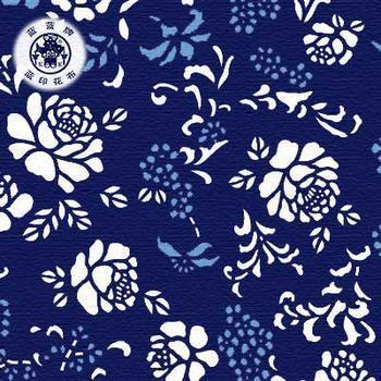 蓝印花布布置幼儿园区域角茶道图片