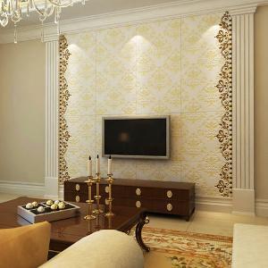 欧式沙发背景墙带罗马柱