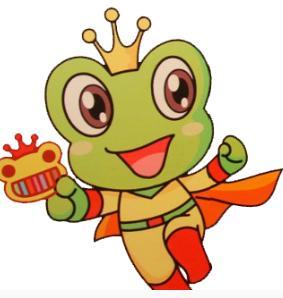 青蛙卡通彩色简笔画