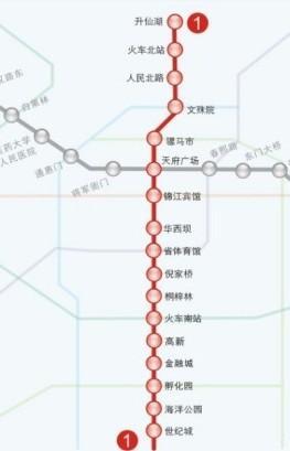 1号地铁线路图-成都地铁1号线 搜狗百科图片