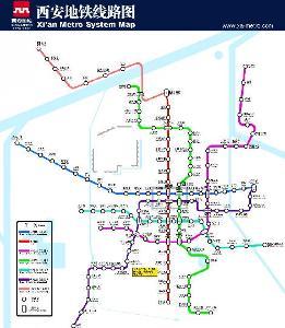 西安地铁近期线路图后卫寨-三桥-皂河-枣园-汉城路-开远门-劳动路-玉祥图片