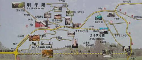 南京梅花山 地图