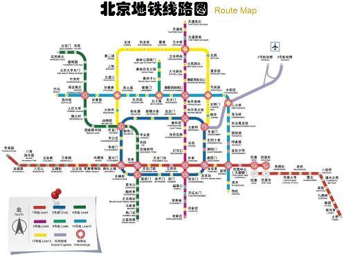 北京地铁一号线线路图图片