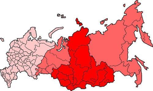 """而在中国古地图上,西伯利亚被称为""""罗荒野""""."""