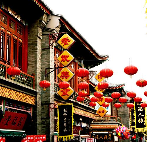 在古文化街南,北两入口处各建有牌楼一座图片