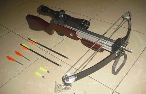 弓弩; 眼镜蛇弩 猎豹眼镜蛇弩; 猎豹 眼镜蛇气枪式两用弩图片