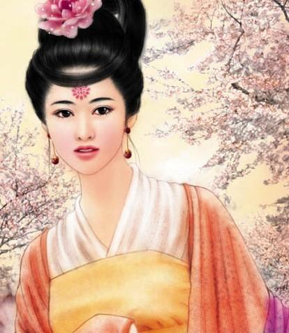 古代美女手绘王妃图片