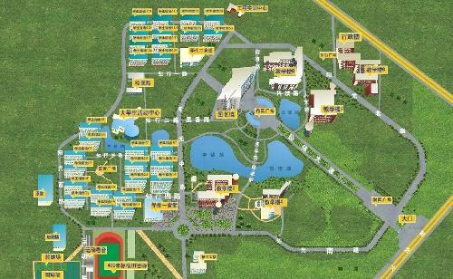 传媒大学手绘地图