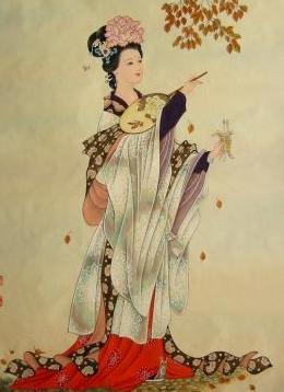 美女_古代美女_美女图库_工笔画 (45) | 油画国画_书法字帖; 贵妃醉酒