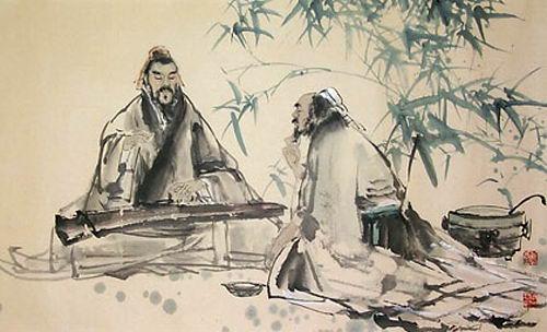 古琴手绘图片动漫