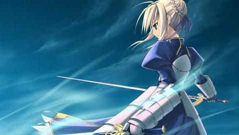 saber的剑手绘