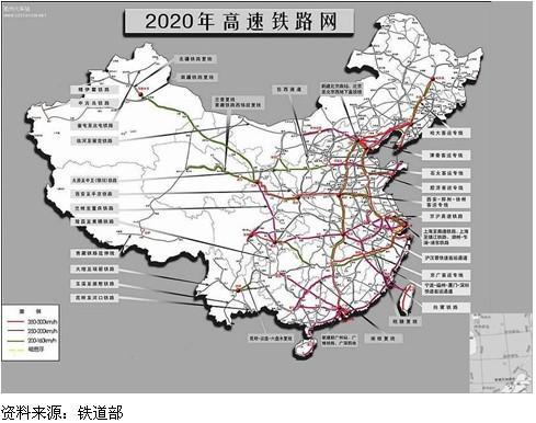 中国铁路规划图④西湛线:西安-安康-万源-达州-广安-重庆-遵义-贵阳-