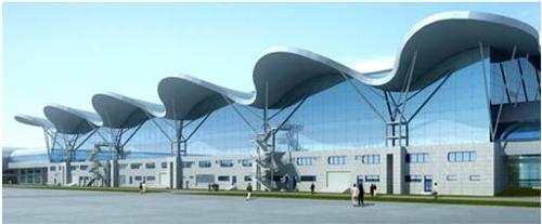 重庆江北国际机场t2a航站楼单层索网幕墙结构设计; 重庆江北国际