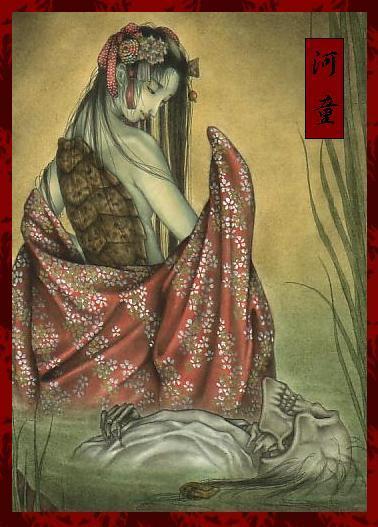 河童(民间传说中的一种两栖动物)