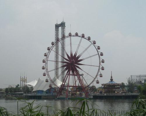 中国最长的双提升矿山车,中国第一个顶仓旋转式飞行岛,中国荧幕最大的