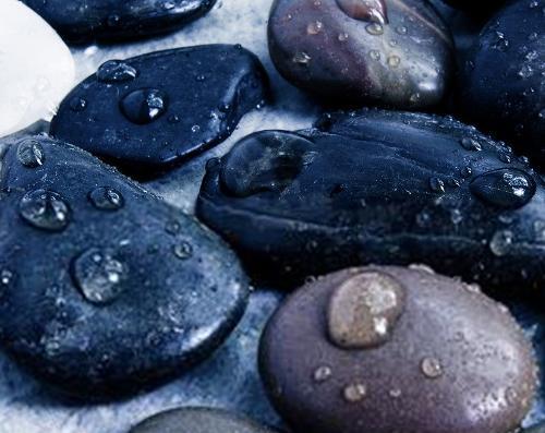 水流侵蚀石头手绘图