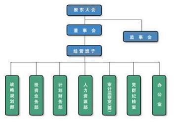 公司組織結構參考示意圖圖片