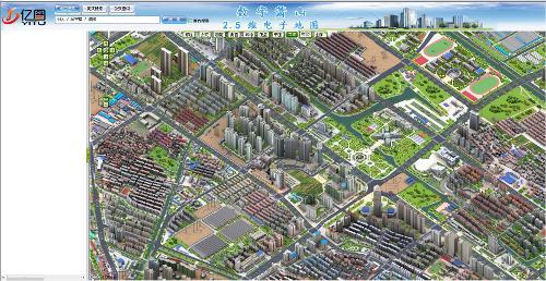 萧山2.5d地图