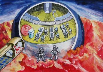 儿童太空科幻画图片大全