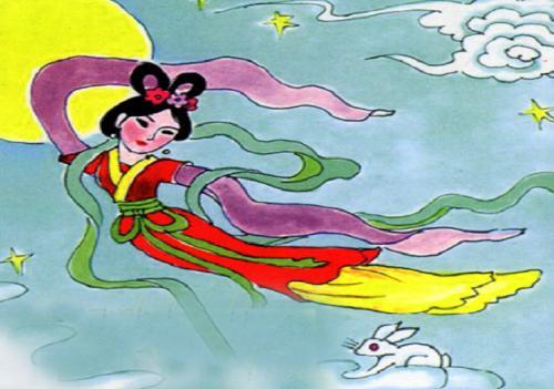 中秋节神话故事之嫦娥奔月;