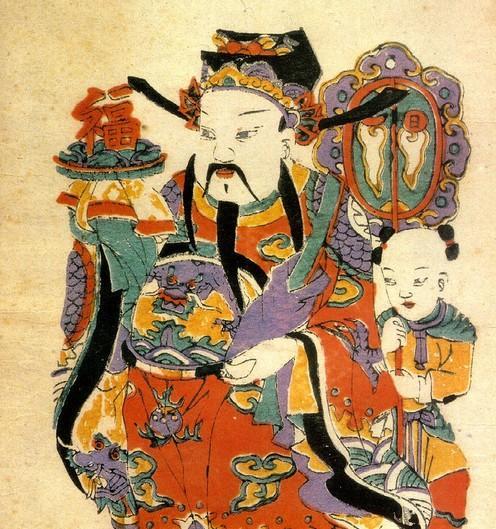 国画人物老寿星
