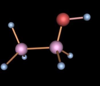 乙醇 分子结构图