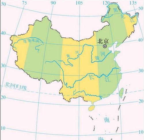 中国跨越的时区