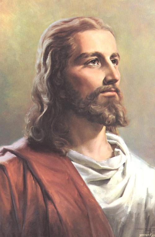 西方古典风格壁画/挂画/手绘画/人物/ 油画 欧式 /救世主 耶稣; 画