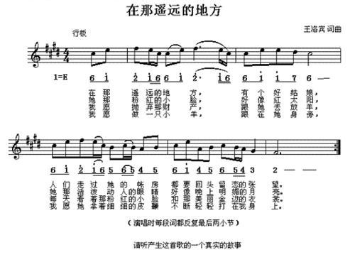 《在那遥远的地方》; 1939年秋,王洛宾受马步芳委派; 卓玛简谱歌谱