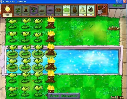 游戏截图 ls是单机游戏植物大战僵尸(plants vs zombies