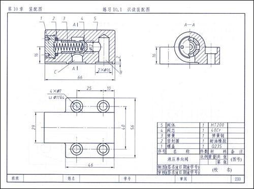 机械制图及标准图库