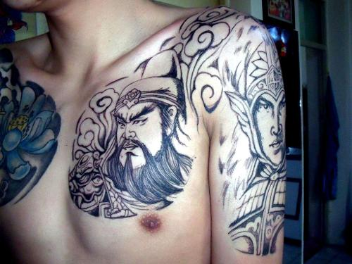 三国人物纹身图片