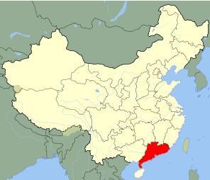 广东 中国地图显示-广东 中华人民共和国省级行政区