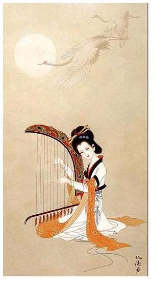 """与会者称颂雁柱箜篌是""""竖琴图片"""