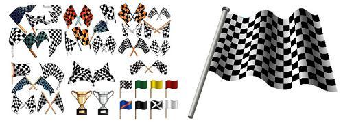 赛车旗子简笔画