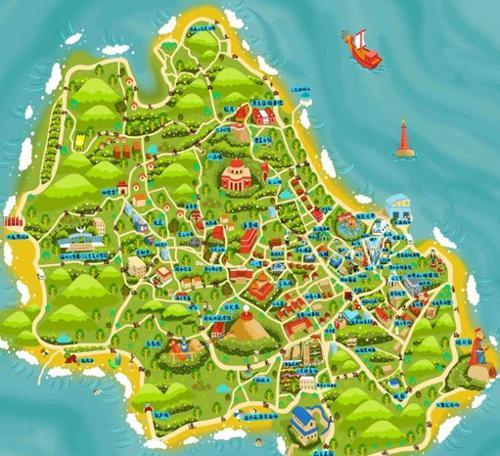 大连手绘地图,《忒色西安》西安手绘地图