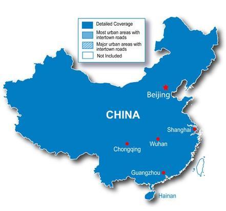 中国大陆地图
