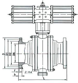 固定式球阀结构图图片