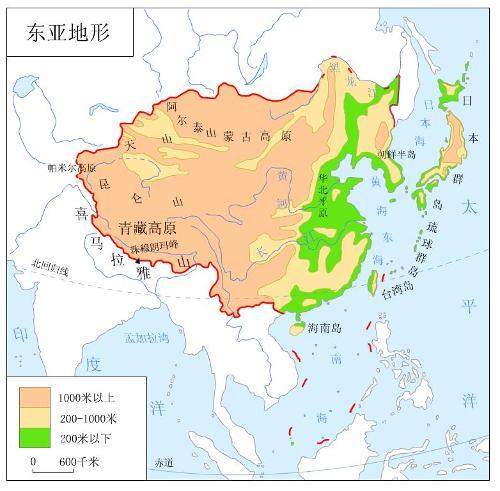 日本地形图手绘简图