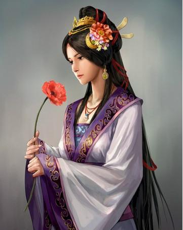 虞姬京剧古风手绘