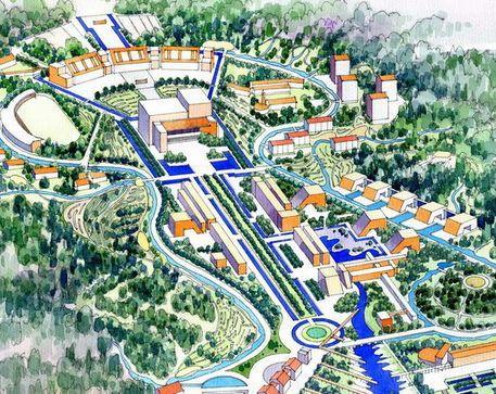 青岛理工大学黄岛新校区环境景观概念规划设计